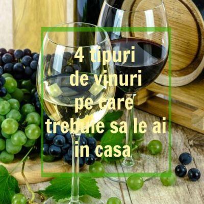 4 tipuri de vinuri pe care trebuie sa le ai in casa