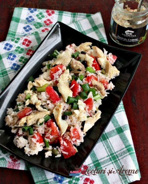 salata de orez cu pește