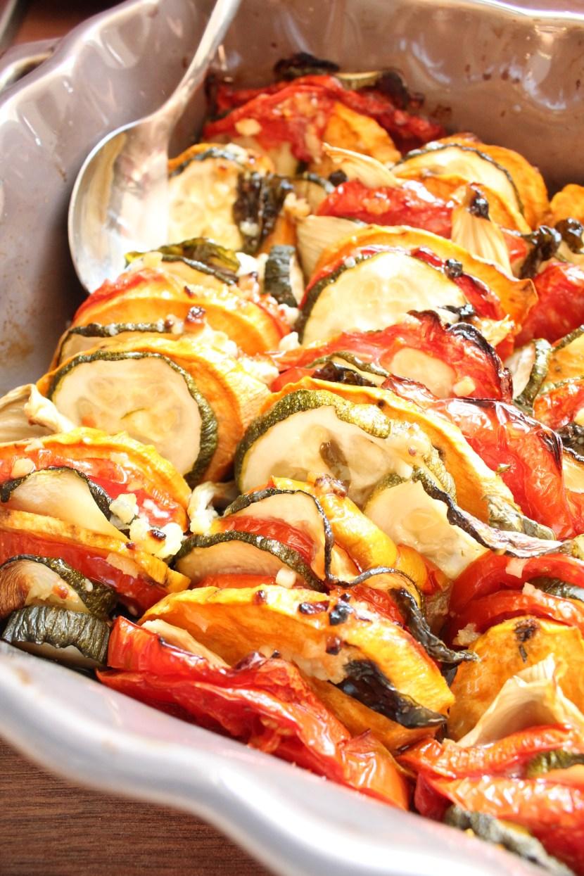 Tian de courgettes, tomates et fenouil Le cul de poule