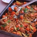 Steak de pois chiches et pulpe de légumes (extracteur)
