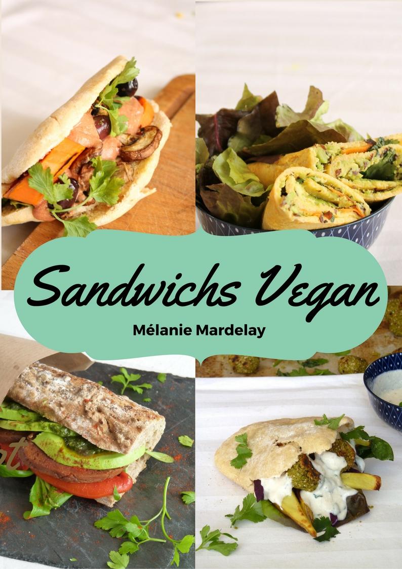 Couverture du l'ebook Sandwichs vegan