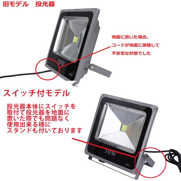 LED投光器(50w)の改良に関して