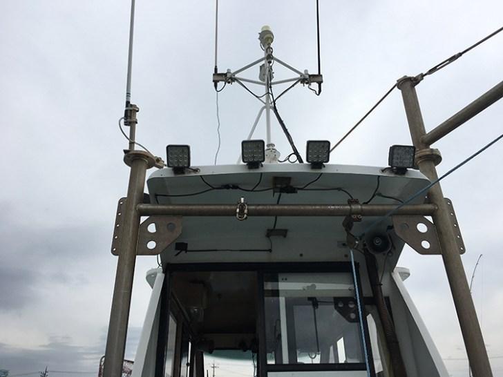 漁船・後方led作業灯設置写真
