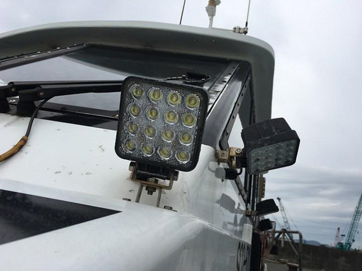漁船・led48w 作業灯設置事例