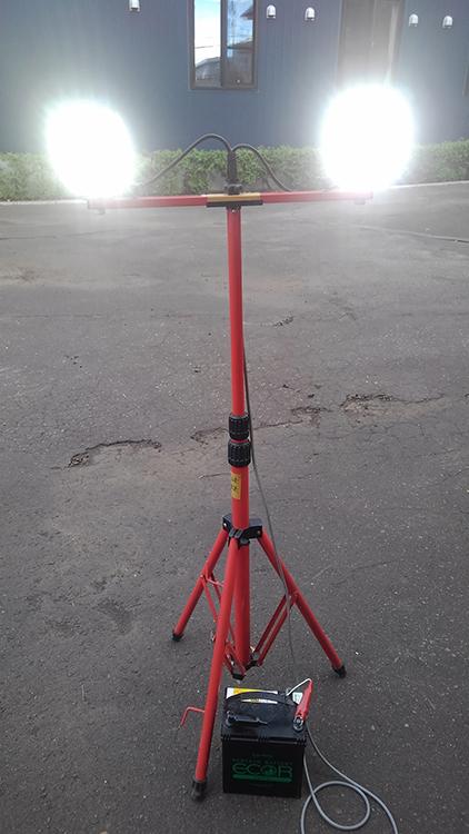 LED作業灯・停電時活用事例