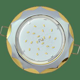 Светильник Ecola GX53 H4 встраив. без рефл. «Звезда» хром-золото 38×116