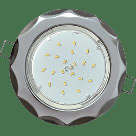 Светильник Ecola GX53 H4 встраив. без рефл. «Звезда» хром-черный хром 38×116