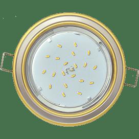 Светильник Ecola GX53 H4 встраив. без рефл. 2 цв. золото-жемчуг-золото 38х106