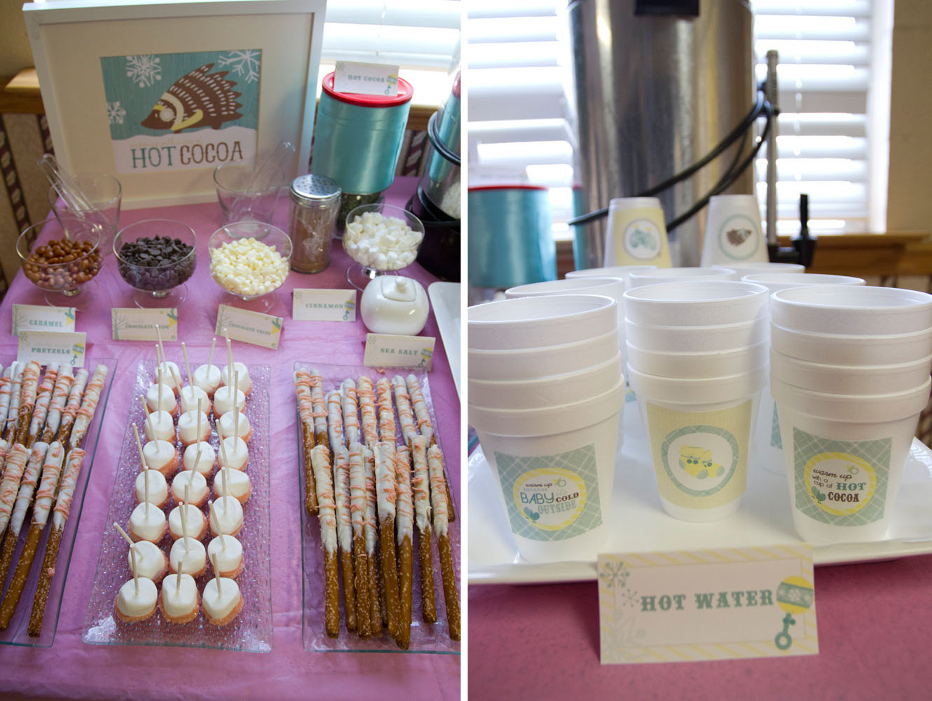 Yellow And Pink Baby Shower Ideas