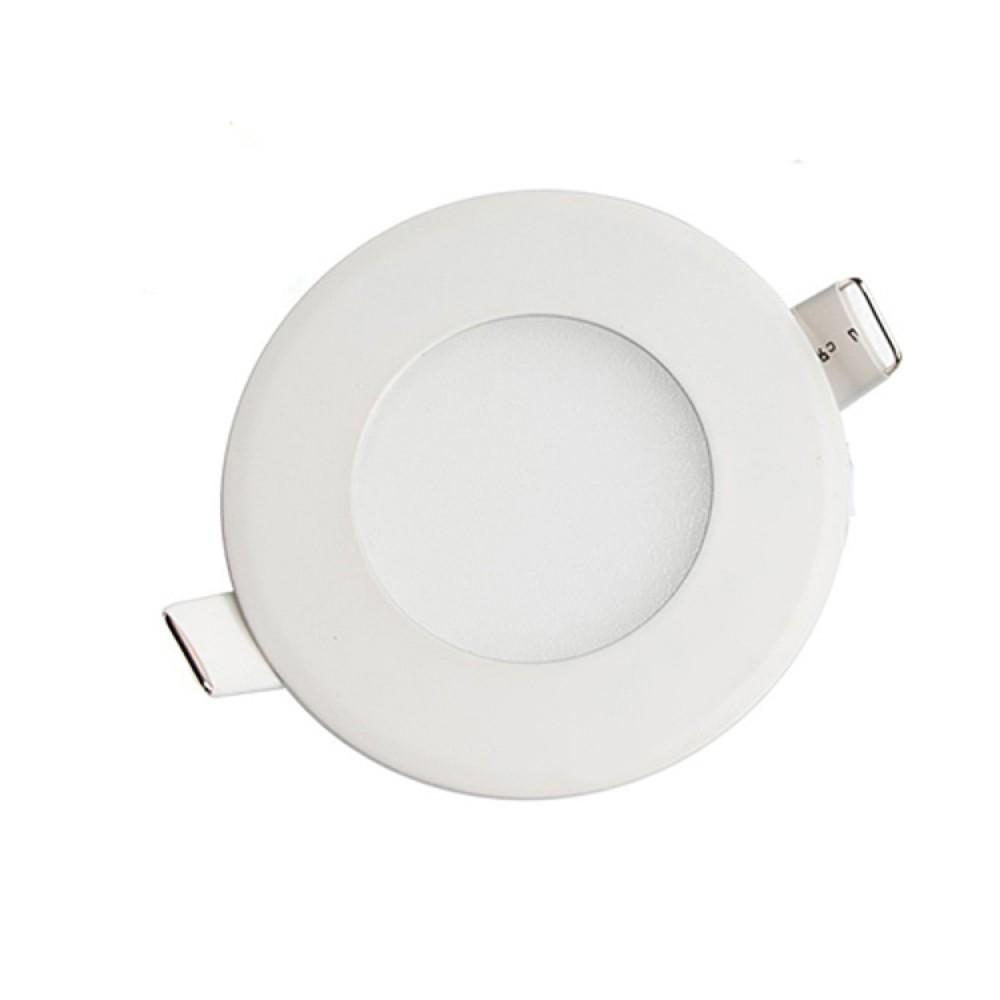 light boat car truck rv emergency light 3w round recessed ultra slim ceiling led lamp 12v in warm white 3200k