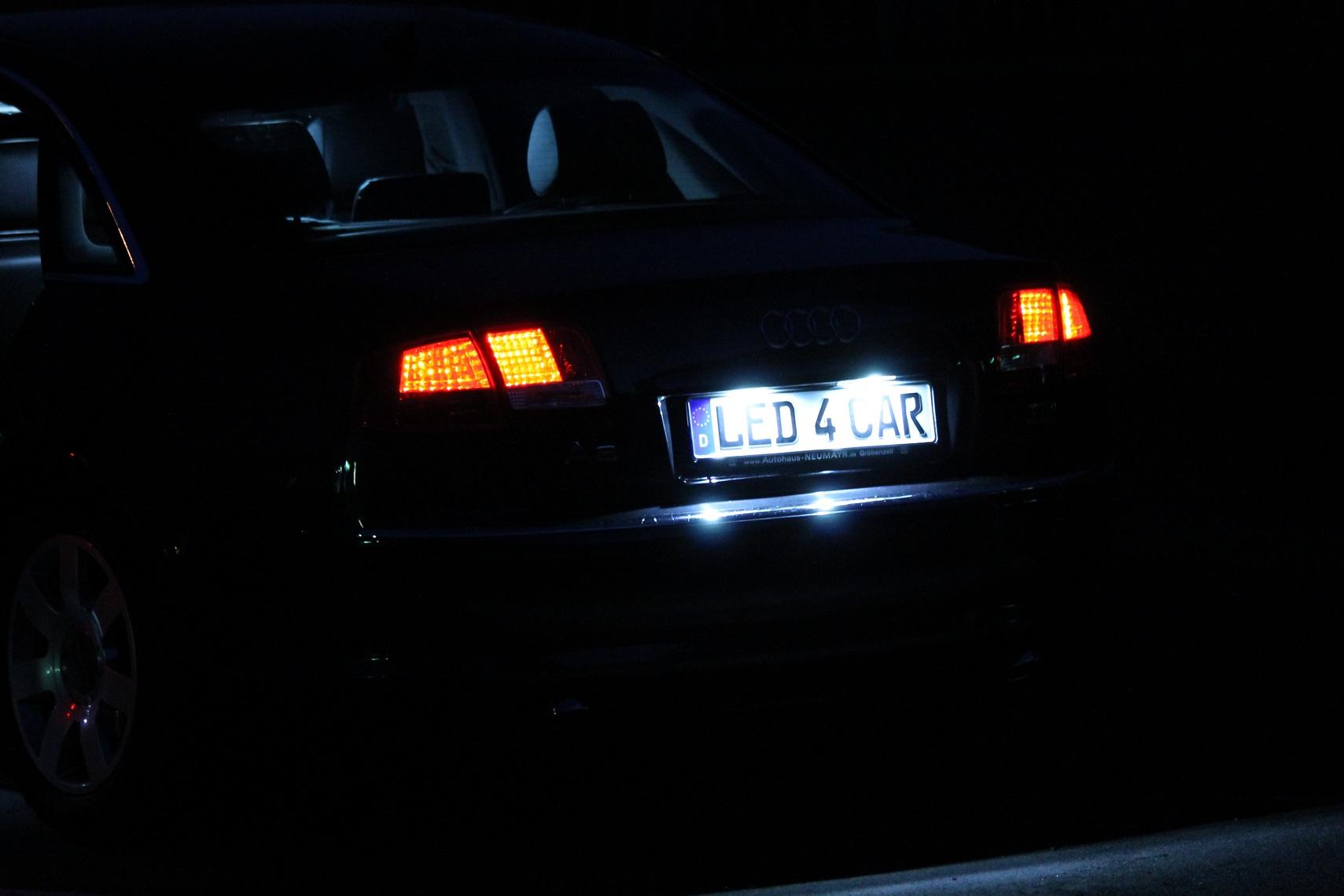 Seitronic Audi LED Kennzeichenbeleuchtung mit E4 Prfzeichen