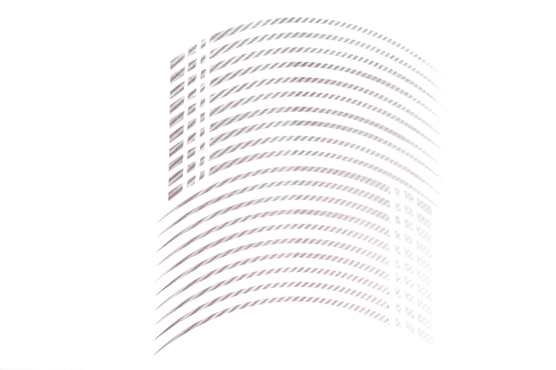 Gp2 18 Felgenaufkleber In Der Farbe Carbon Silber