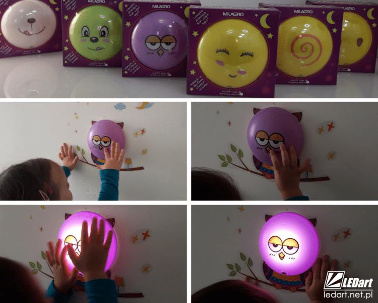 prezent na mikołaja dla dziecka lampki led na ścianę na baterie z naklejkami