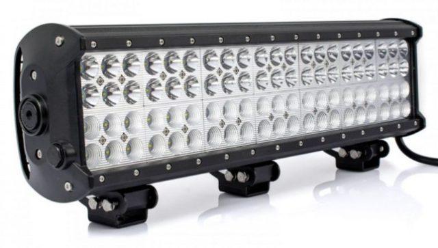Bara LED cu 2 faze (faza scurta/faza lunga), putere 252W/12V-24V, 21420 Lumeni, lungime 51 cm, Leduri CREE calitate extra lumina,special pentru vanatoare si autoturisme 4×4,Led bar auto cu 4 randuri de leduri, cu faza scurta si faza lunga