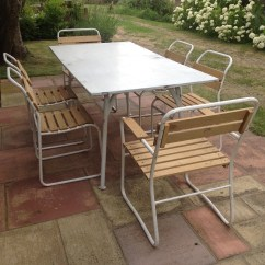 Unusual Garden Chair Ladderback Dining Chairs Recycled Restored Vintage Indoor Outdoor Furniture Conservatory Or Set