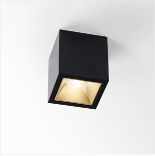 DeltaLight BOXY L+ LED 3033 BLACK-BLACK - Ceiling Surface mounted - 251678122B-B