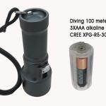 10-300 lumen traploos Batterijen