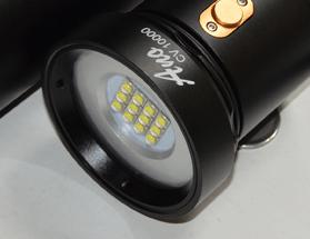 Videolampkop 5000 - 10000 lumen bediening waterdichte drukknop