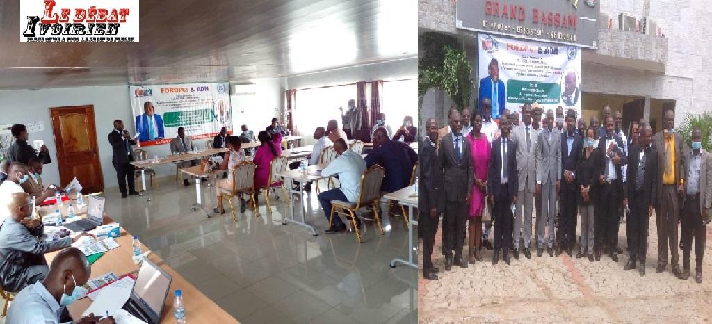 les directeurs de publication de Côte d'Ivoire en formation a Grand Bassam FORDPCI ADN LEDEBATIVOIRIEN.NET