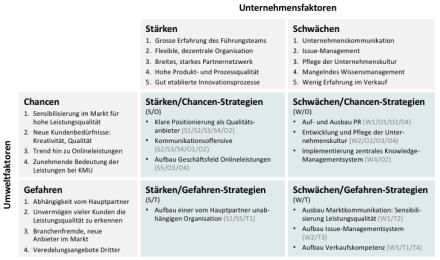 SWOT-Analyse und -Strategien