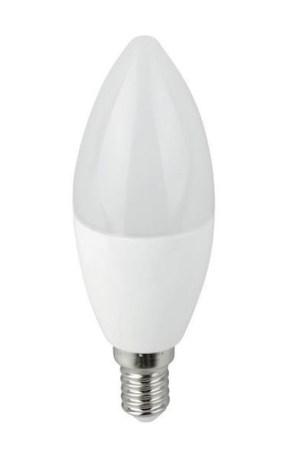 Led gyertya égő 7W, 710 Lumen, 70W izzó helyett, E14, 4200 K, közép fehér, nem vibrál a fénye!