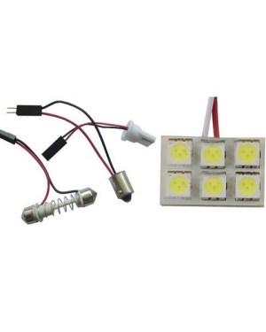 Autó led panel világítás, 6 led
