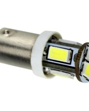 Autós led BA9s sárga helyzetjelző,index világítás, 6 led