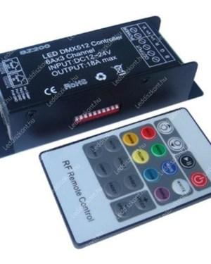 DMX512-RGB-led-szalag-vezérlő-20-gombos-infra-távirányító-DC12V-3-csatorna-216-W- Ledfenyek.eu