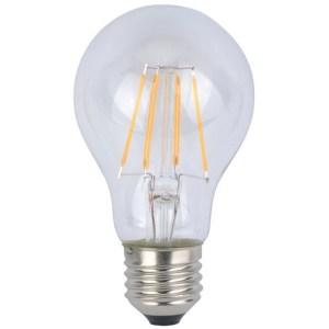 Led filament körte égő 6W, átlátszó 60W izzó helyett, E27, 650 lumen, 60 mm, 4200 K, közép fehér, nem vibrál a fénye! 3 év garancia