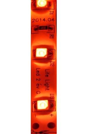 Led szalag 60 ledm, 4,8W, 2835 chip, piros, extra erős fény, IP65 vízálló. Life Light Led. 2 év garancia!