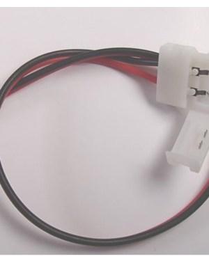 Led szalag Forrasztásmentes betáp 2 eres 5050-5630-as, 10mm led szalaghoz. Vezeték 25 cm.