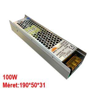Led tápegység 100W 12V IP20, keskeny kivitel