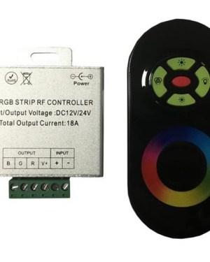 Rádiós RGB led szalag vezérlő, 216W, érintős, egyedi kódos
