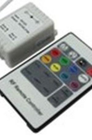 RGB led szalag vezérlő, 72W, rádiós, 20 gombos