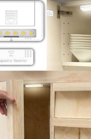 Mágneses szekrényvilágítás, 0,8W, 60 lumen, 2db AAA elem nem tartozék!, egy csomagban 2 db van! Life Light Led 2 év garancia!