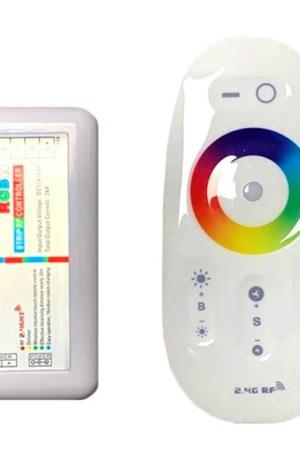 RGBW led szalag vezérlő, 288W, rádiós, érintős