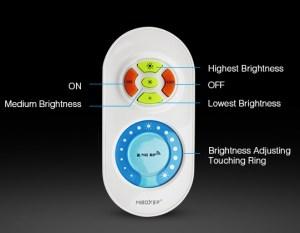Milight fényerőszabályozó szett, dimmer touch távirányító+vezérlő (FUT021) távirányító