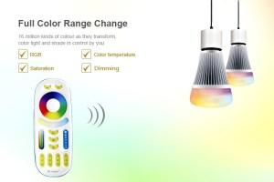 Milight távirányító RGB+CCT+Dimmer 4 zónás (FUT092) funkciók