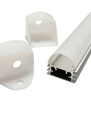 Alusín alu profil szett IP44 vízálló, tejes fedővel, bármilyen led szalaghoz! 2m sín+ tejes takaró+ 4 db rögzítő+ 2 db végzáró.