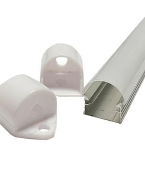 Alusín alu profil szett tej fedővel, bármilyen led szalaghoz! 1m sín tejes takaró 2 db rögzítő 2 db végzáró.