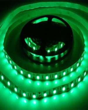 Led szalag 60 led m, 2835 chip, extra fényerő, zöld.