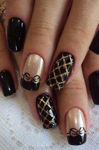 дизайн ногтей с золотом 6