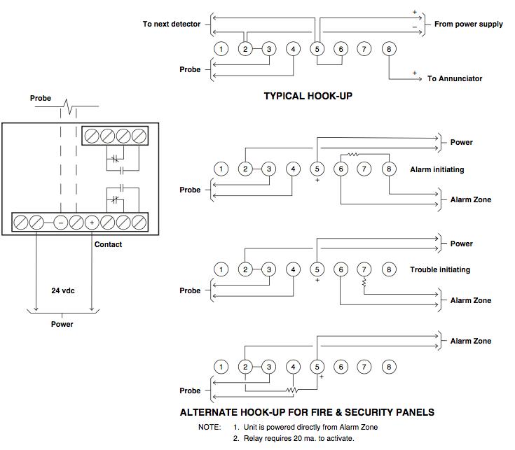 Water Detection Wiring Diagram