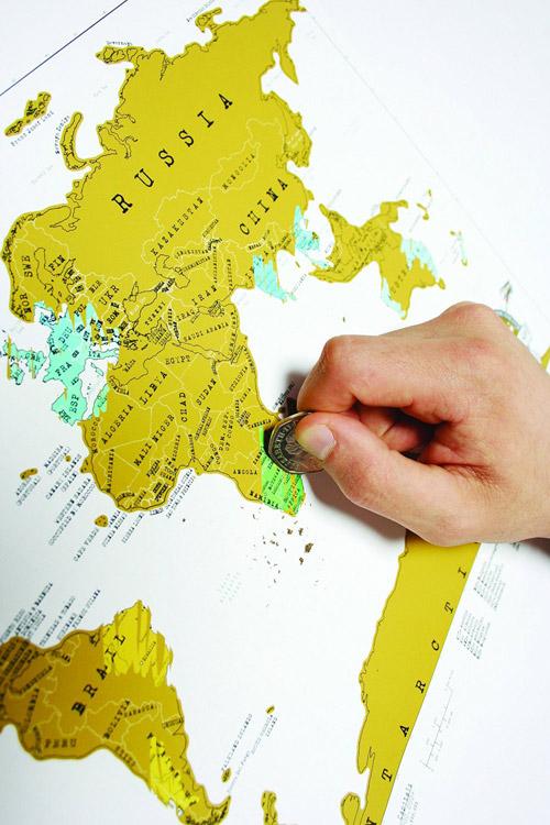 Amazon.fr : carte du monde a gratter : Cuisine et Maison