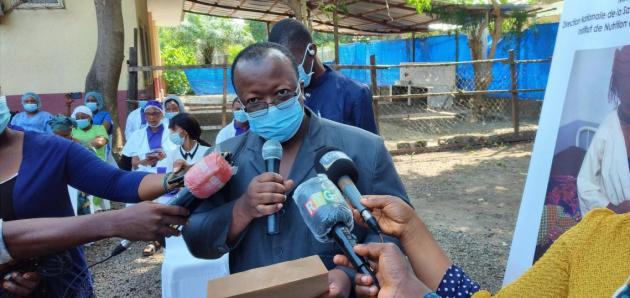 @Saa Momory KOUNDOUNO Dr Ibrahima Sory DIALLO, Directeur général de l'Institut de Nutrition et de Santé pour Enfants (INSE) de Donka.