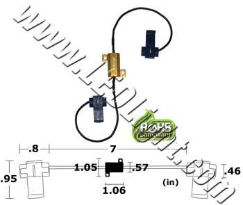 LED Load Equalizer 6V, 12V & 24V 6 Ohm 25 Watt