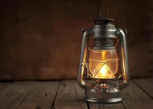 Kerosene lamp, an contemporary light