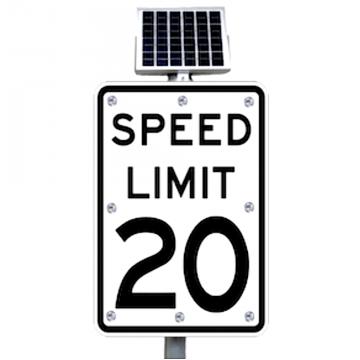 ledlighting-solutions.com: 25mph Flashing Speed Limit Sign