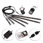 12Pcs Motorcycle LED Light Kit Multi-Color Flexible Strips