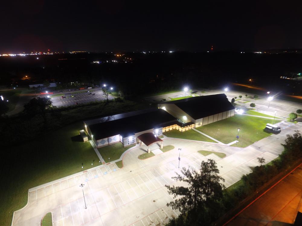 Led Lighting Of Houston The Luke Church Led Parking Lot